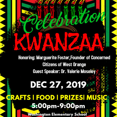 Celebrate Kwanzaa December 27, 2019                       Washington Elementary School