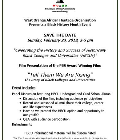"""""""Tell Them We Are Rising"""" The Story of Black Colleges & Universities - February 23 - 2 to 5 pm"""