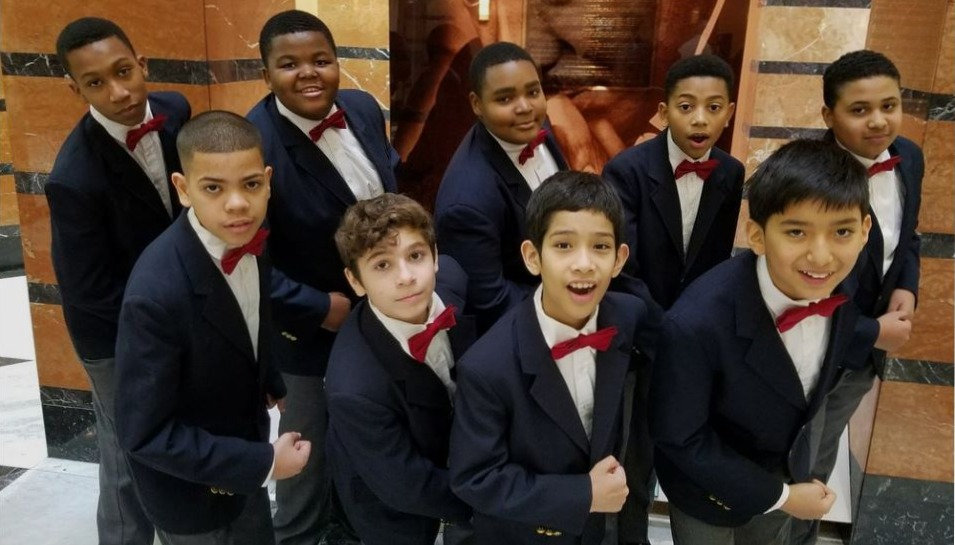Newark Boys Chorus perform at MLK celebration in Newark Courthouse.
