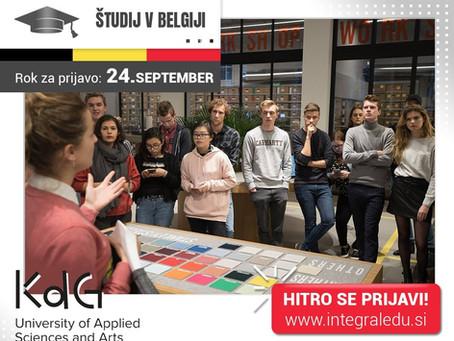 Študij v Belgiji - na univerzi Karel de Grote vpisi potekajo do septembra!