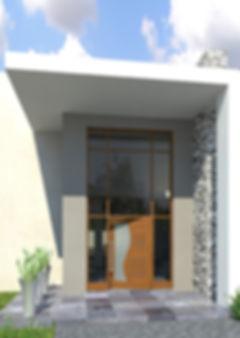 Wave door in entrance unit