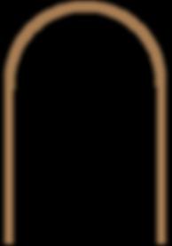 arch door frame for pair of doors