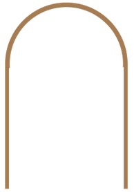 arch door frame for pair of doors