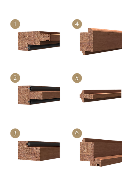 window frame sections