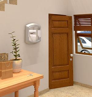 3 panel wooden door