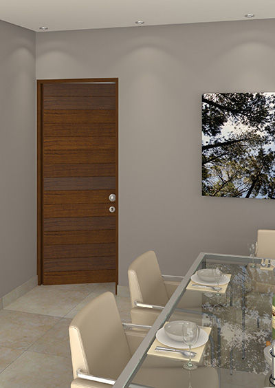 Horizontal door in dinning room