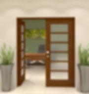 6 pane glass door