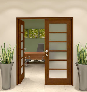 6 pane glass door