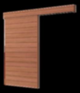 Exposed sliding door