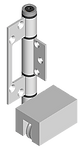 Bottom roller hinge