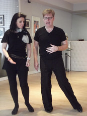 Strictly Come Dancing star Karen Hardy with London based dance teacher Jack Murphy