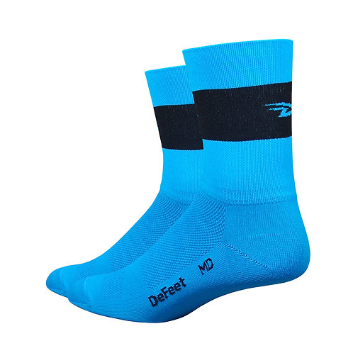 "Aireator 5"" Team DeFeet Process Blue w/ Black Stripe"