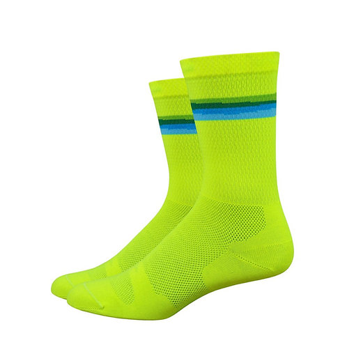 "Defeet LEVITATOR LITE 6"" Hi-Vis Yellow/Process Blue"