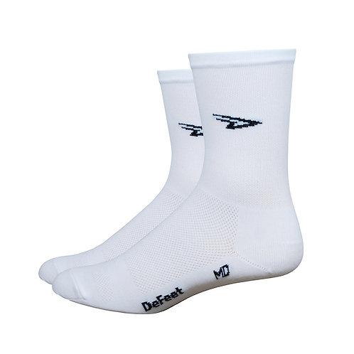 "Defeet Aireator 5"" D-Logo - White"