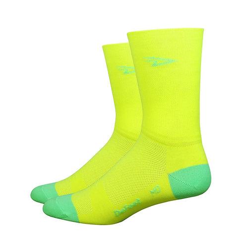 "Aireator 5"" D-Logo Hi-Vis Yellow w/Hi-Vis Green- Double Cuff"