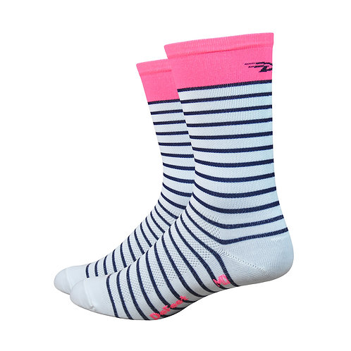 "Aireator 6"" Sailor - White/Navy/Flamingo Pink"
