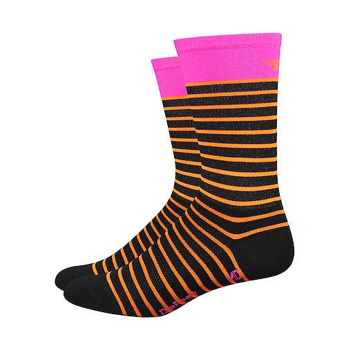 "Defeet Aireator 6"" Sailor (Black/Orange/Pink)"