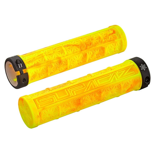 Supacaz Grizips Neon Red/Neon Yellow Splash