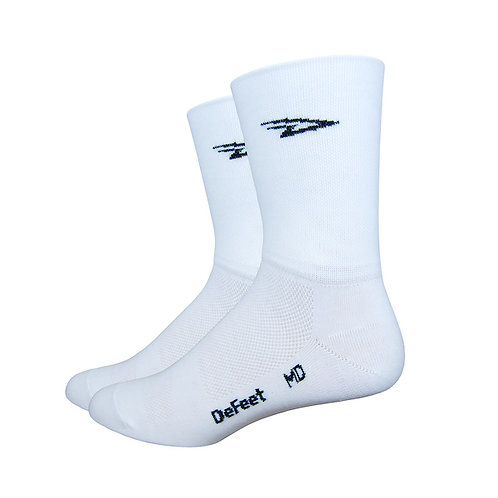 "Defeet Aireator 5"" D-Logo White - Double Cuff"
