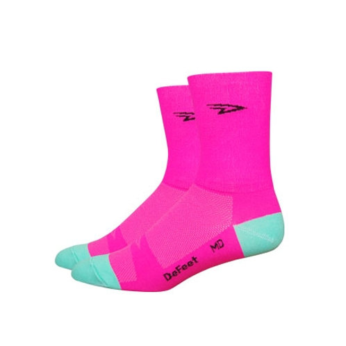 "Aireator 5"" D-Logo Hi-Vis Pink w/Celeste - Double Cuff"