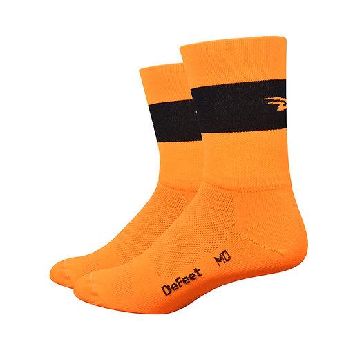 "Aireator 5"" Team DeFeet Hi-Vis Orange w/ Black Stripe"