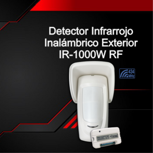 Doble Detector Infrarrojo de Exterior Inalámbrico IR-1000W