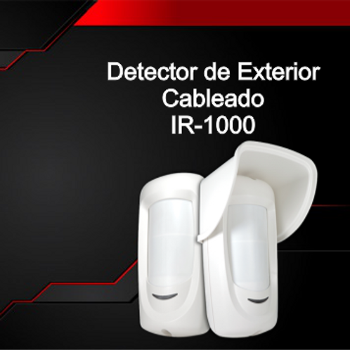 Detector de Exterior (Cableado) IR-1000