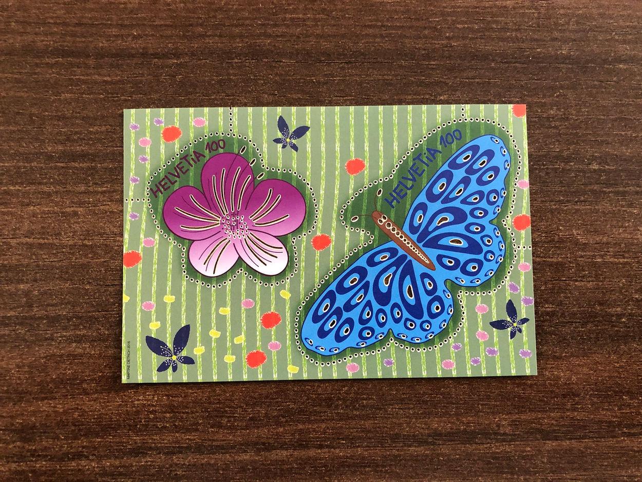 Laserschnitt Blume und Schmetterling
