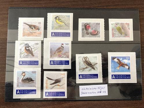Dauermarken Einheimische Vögel