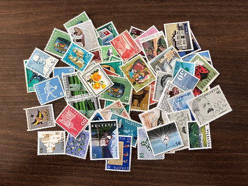 100 CHF Briefmarken gemischt ohne gummi
