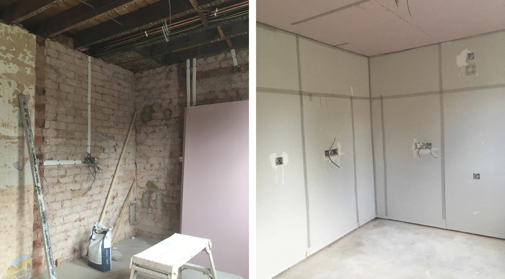 Before/After - Plasterboarding