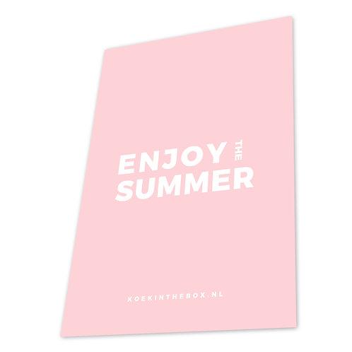 GIFTBOX met 9 koekjes en kaart ENJOY THE SUMMER