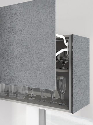 Pietra Stone Grey Flap Door