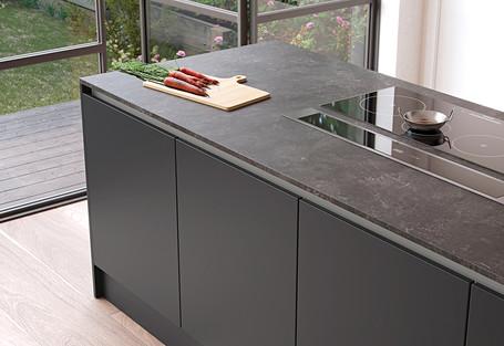 Zola Soft Matte Graphite Kitchen