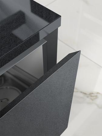 Metallico Bevelled Drawer - Dark Steel
