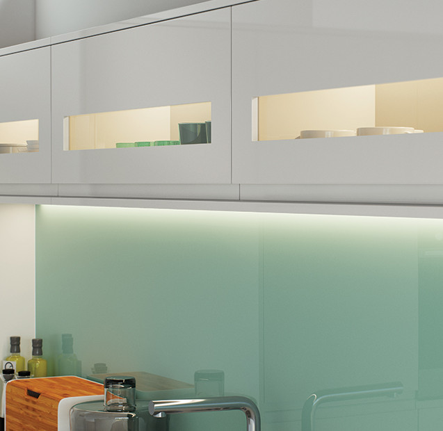 Strada Light Grey Gloss Kitchen