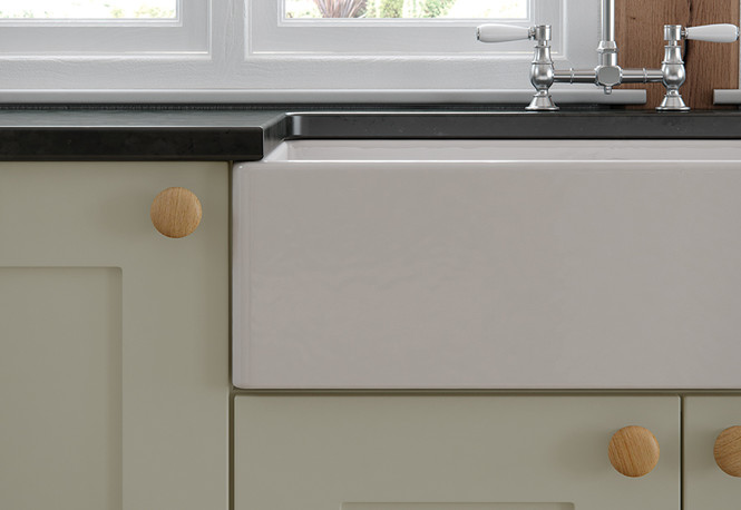 Georgia Painted Mussel Kitchen with Belfast Sink