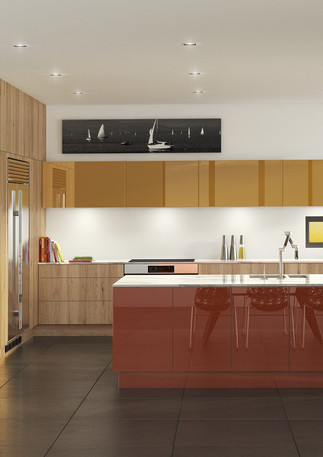 High Gloss Lacquered Kitchen