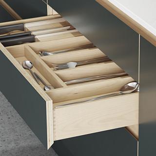 Plywood Painted Kitchen - Drawer Detail