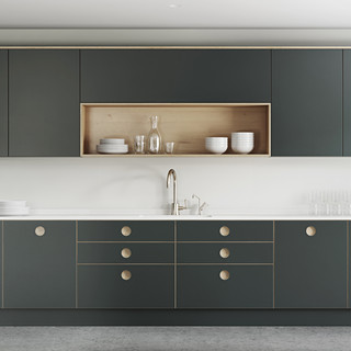 Plywood Painted Kitchen - Integrated Handle Option 2