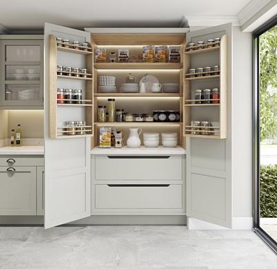 Galley Kitchen Pantry Storage