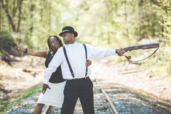 BONNIE AND CLYDE ENGAGEMENT PHOTOGRAPHY