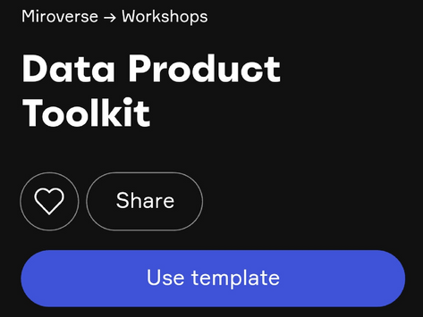 Data Product Toolkit available as Miro Template