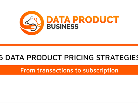 #8 Six Data Product Pricing Strategies with example in 5 minutes