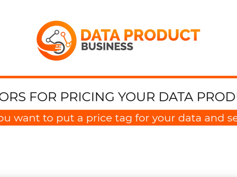 #11 Factors for pricing your data product