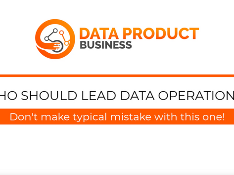 #14 Who should lead data operations?