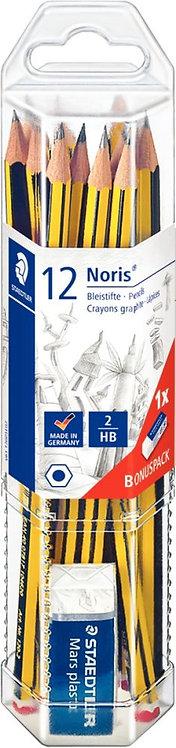 Boîte de 12 crayons graphite Staedtler Noris 120 HB