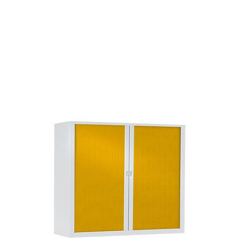 Armoire à rideaux bicolore 100 x 100 cm - Corps blanc - Rideaux Color