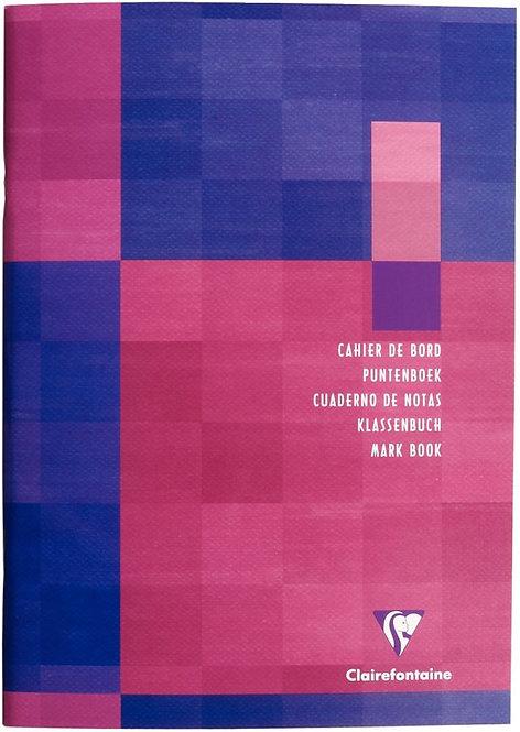 Cahier de bord de l'élève, réglure spéciale à colonnes,72 pages 21x29,7 cm