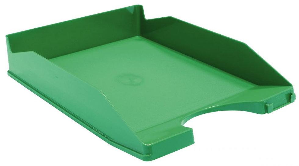Corbeille à courrier opaque vert